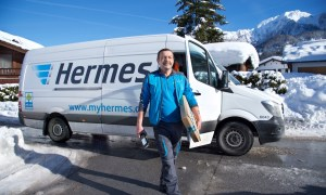 Hermes Zustellung Schneewinter 4