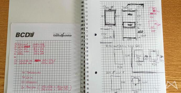 Schrank 3d Drucker Skizze