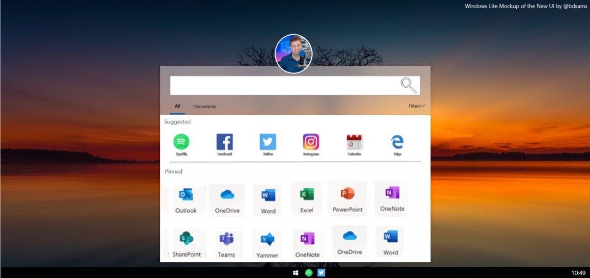 Microsoft Lite Os Mockup