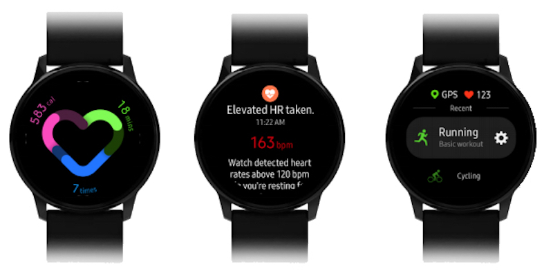 Samsung Galaxy Watch Active Fitness Detail