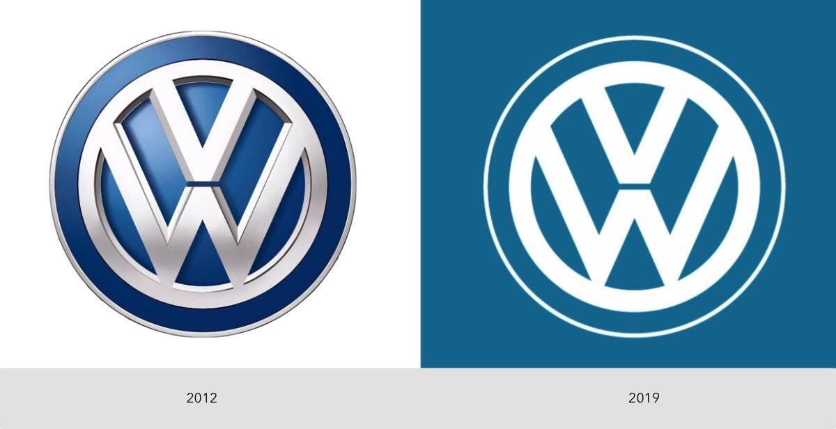 Vw Logo Alt Neu 2012 2019 Vergleich