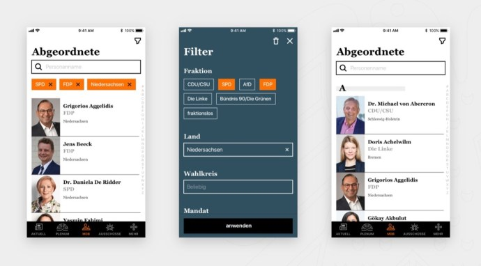 Bundestag App Android Ios