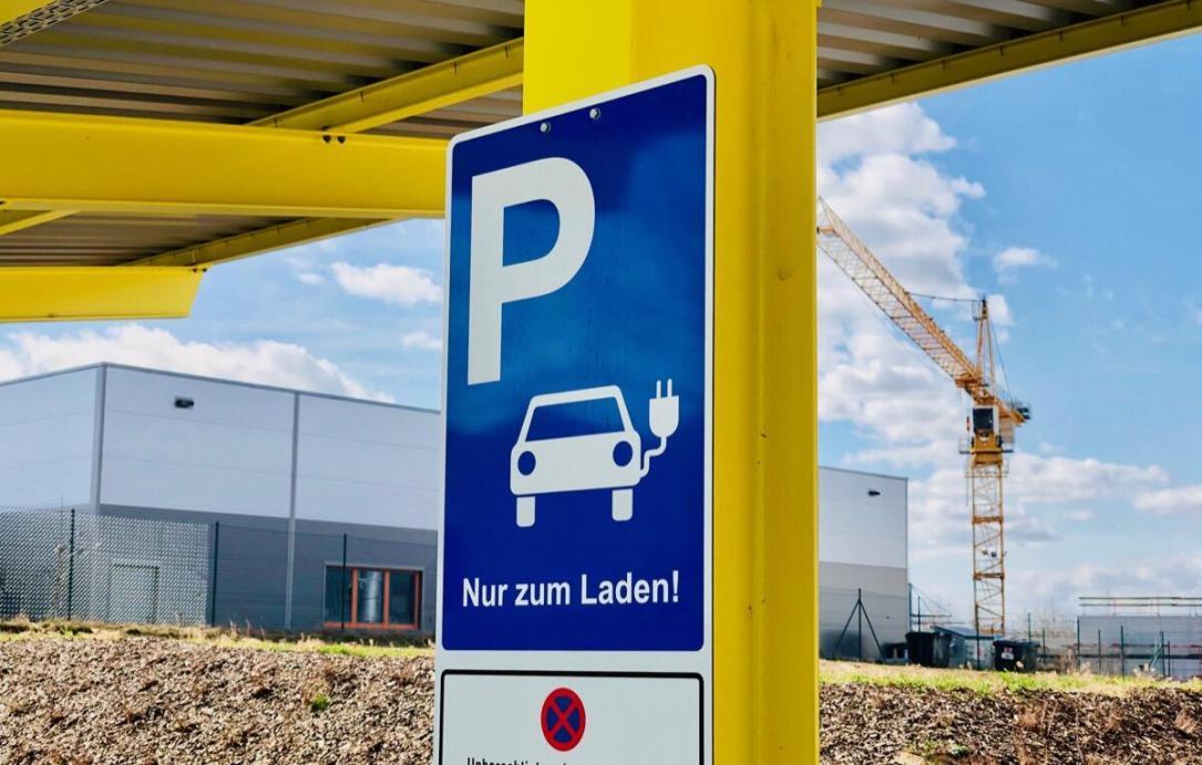 Elektro Auto Parken Laden Strom