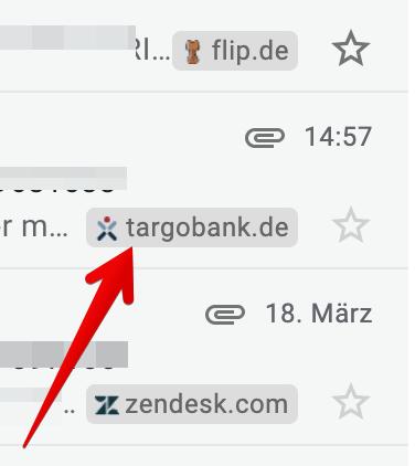 Gmail Favicon Sender