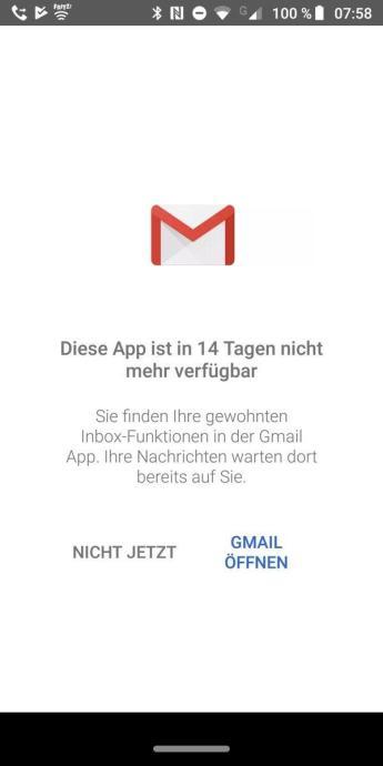 Inbox Ende Gmail