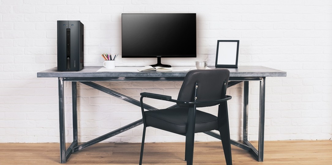Black Chair At Designer Desk