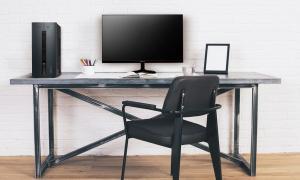 Black Chair At Designer Desk