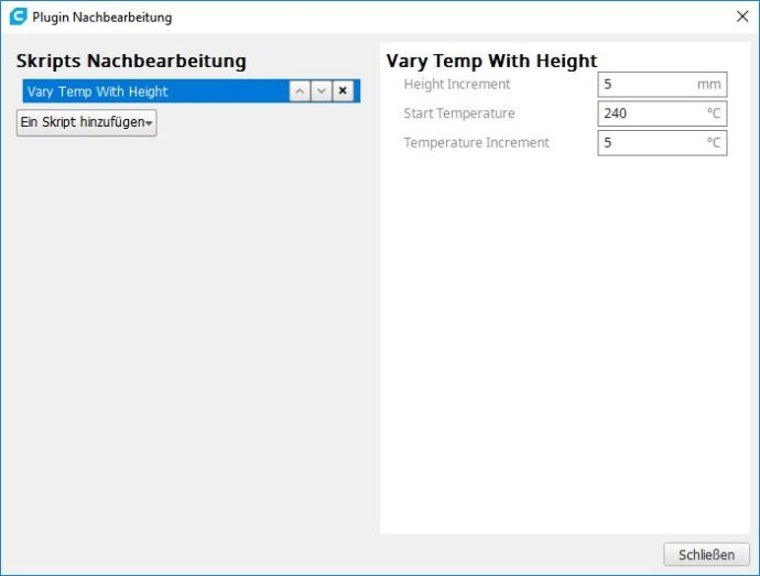 Vary Temp Height