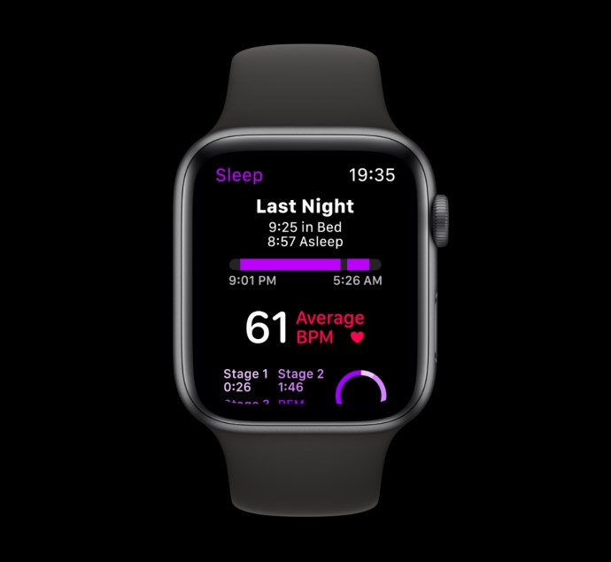 Apple Watch Watchos 6 Konzept Schlaf