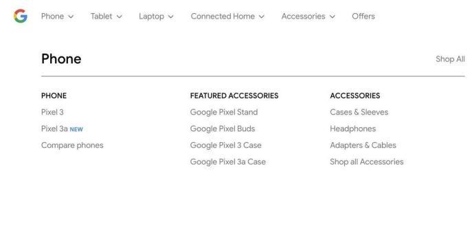 Google Pixel 3a Store