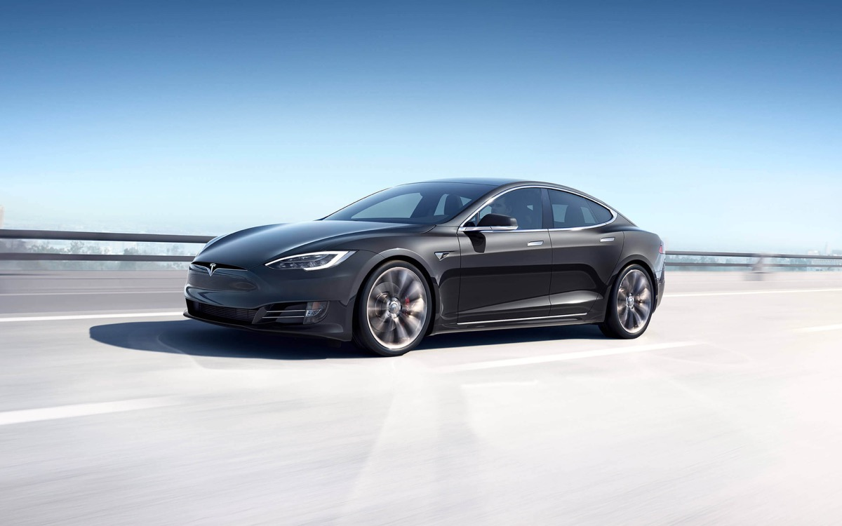 Tesla Model S Grau Header