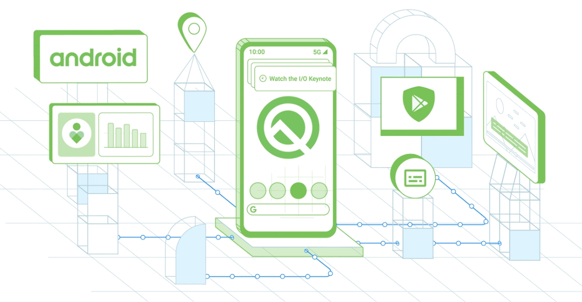 Android Q Google Header