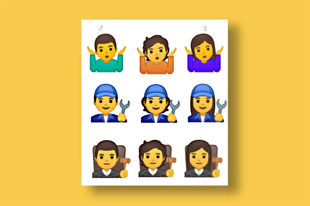 Google Emoji Geschlecht Neutral Android