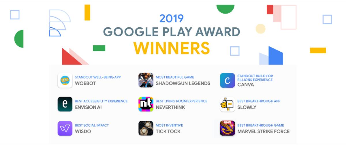 Google Play Awards 2019 Gewinner