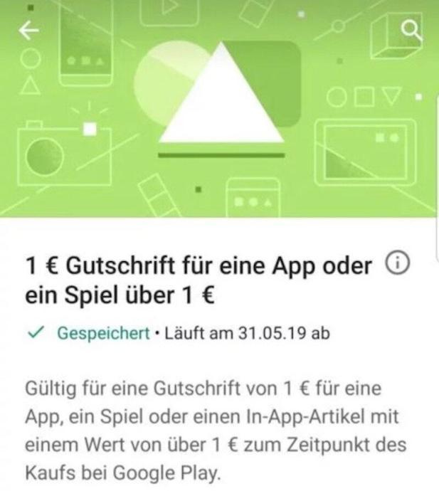 Google Play Store Gutschein Mai 2019