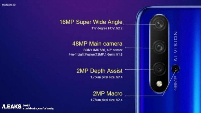 Honor 20 Kamera Specs