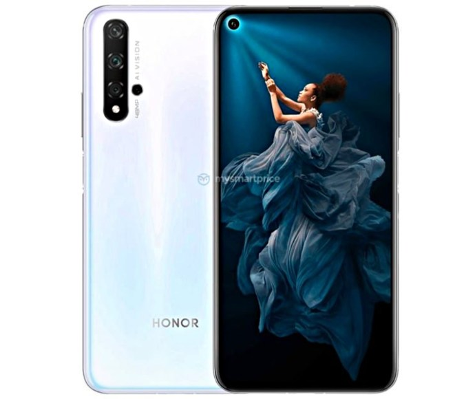 Honor 20 Weiss Leak