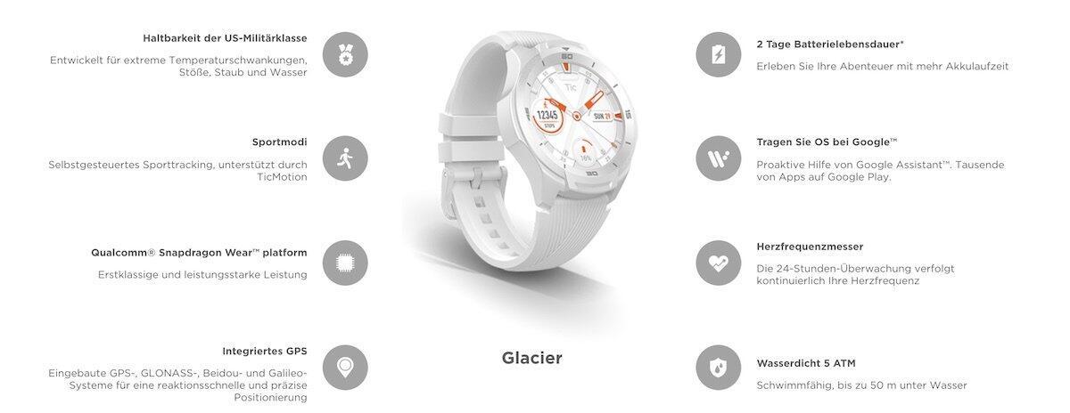 QnA VBage Mobvoi TicWatch S2 in Weiß erhältlich