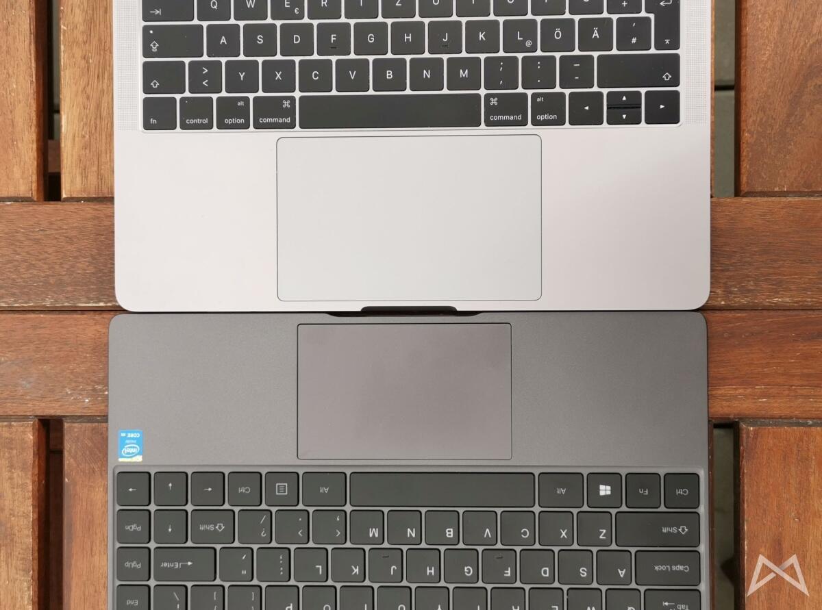 Chuwi Aerobook Vs Macbook Pro Tastatur Touchpad