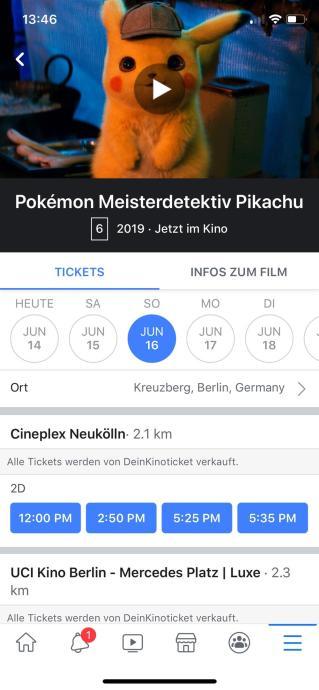 Facebook Movie Ticketing