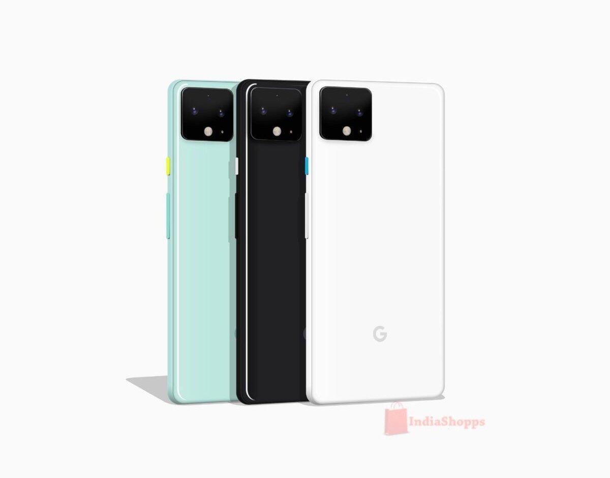 Google Pixel 4 Render Design Farben