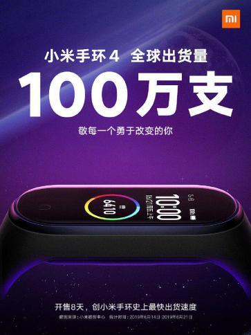 Mi Band 4 Xiaomi 100 Mio