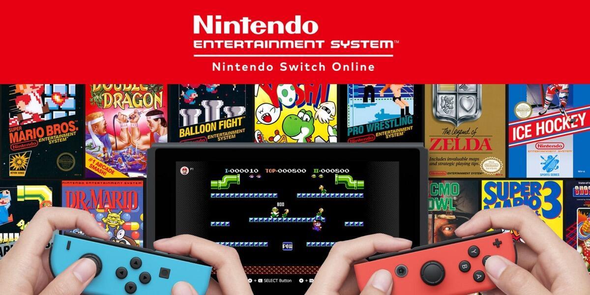 Nintendo Switch Online Retro Header