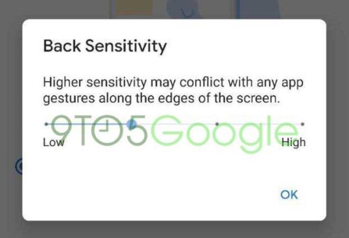 Android Q Beta 5 Geste