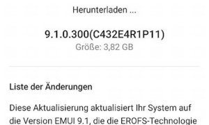 Huawei Mate 10 Pro Emui 9.1 Changelog