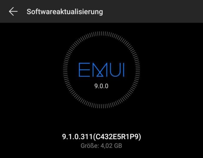 Huawei P20 Pro Emui 9.1 Update De