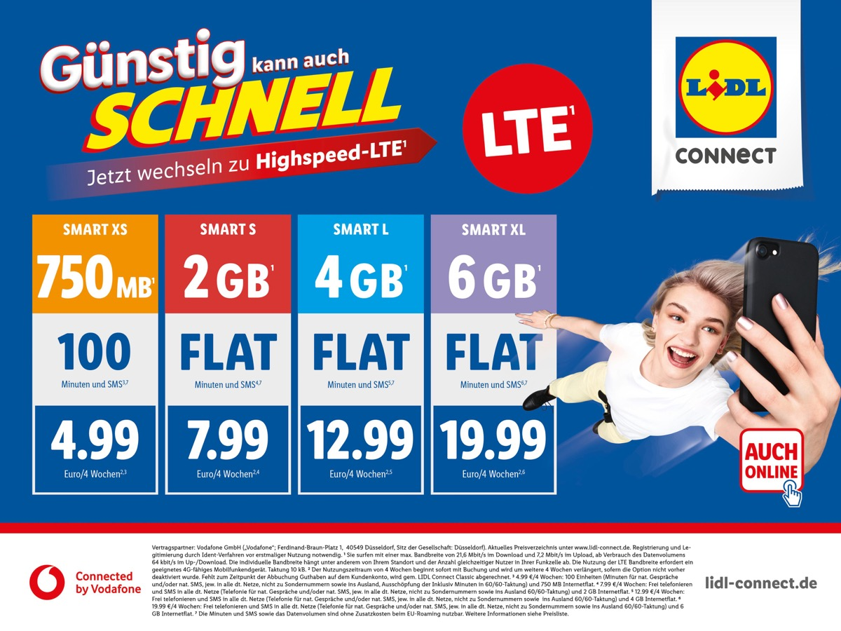 Lte Bei Lidl Connect Connected By Vodafone