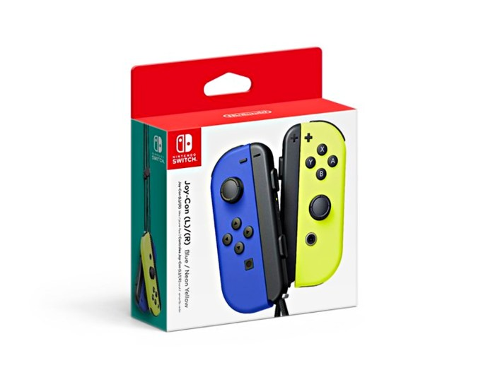 Nintendo Switch Joy Con Blau Gelb