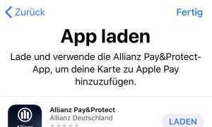 Allianz Apple Pay