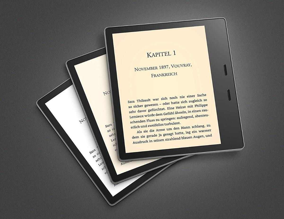 Amazon Kindle Oasis Farbtemperatur