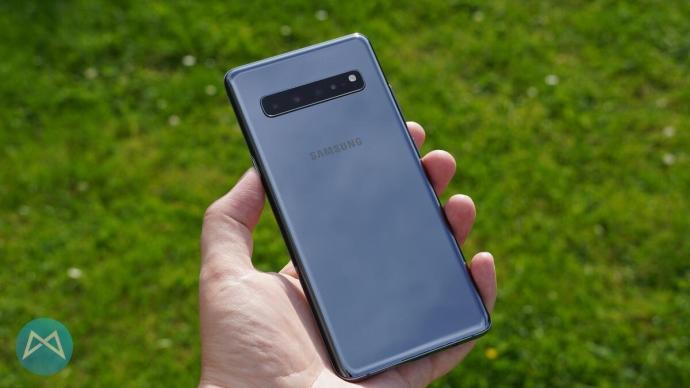 Rückseite des Galaxy S10 5G.