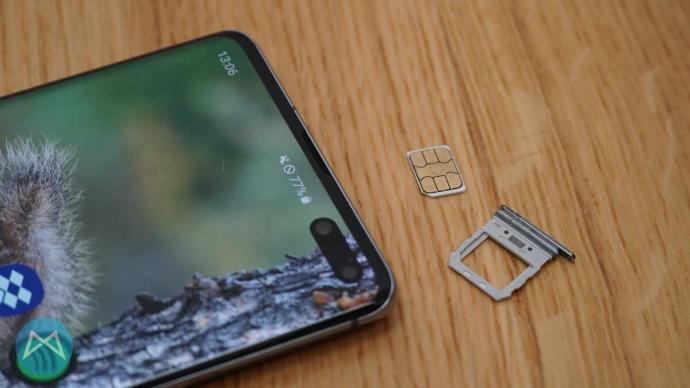 Galaxy S10 5G SIM-Slot.