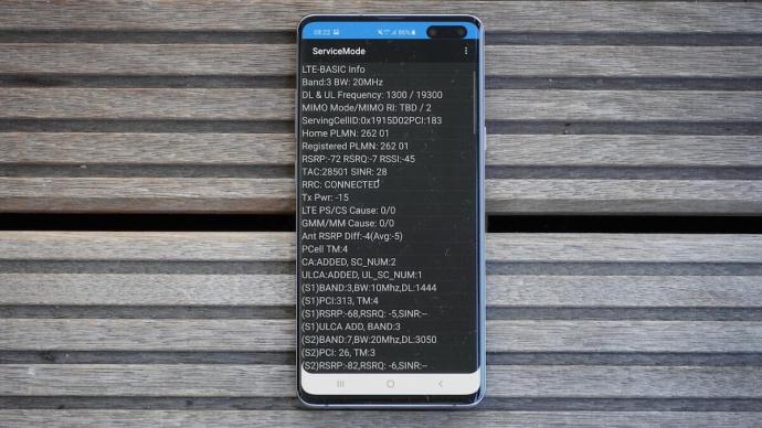 Netmonitor auf Samsung Smartphone