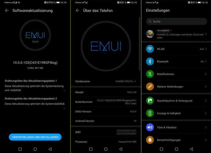 Emui 10 Huawei P30 Pro Beta Update