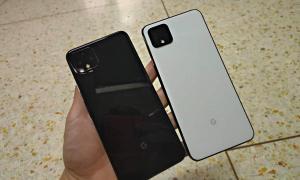 Google Pixel 4 Leak Weiss Schwarz Back