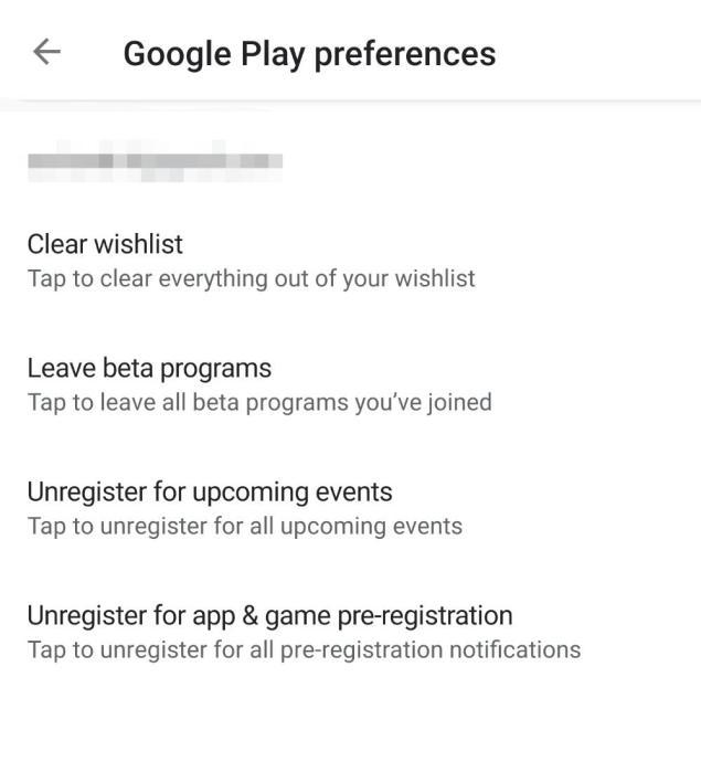 Google Play Store Vorlieben
