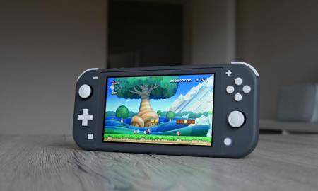 Nintendo Switch Lite Super Mario Header