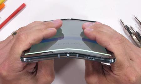 Samsung Galaxy Fold Gebogen