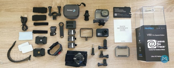 Akaso V50 Pro Actioncam Lieferumfang
