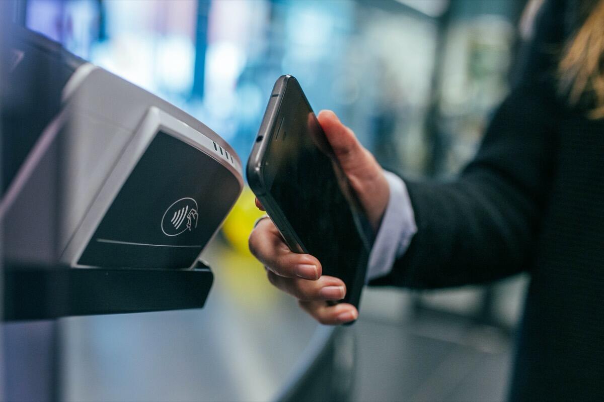 Bezahlen Kasse Geld Payment Nfc