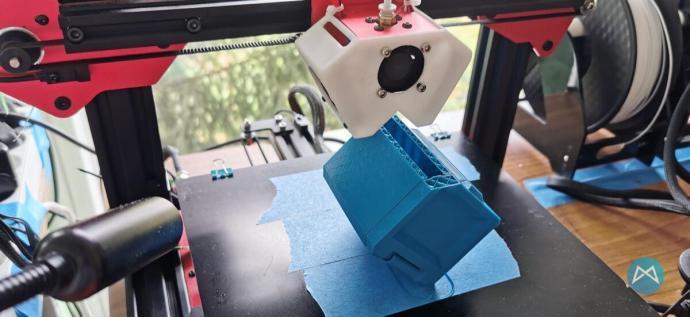 Blaue Box Inkl. Klappe 3d Druck