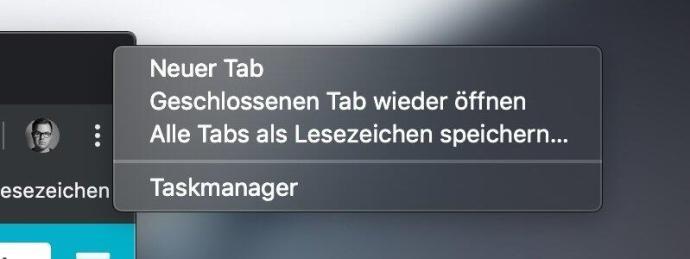 Chrome Tab Rechtsklick Geschlossen