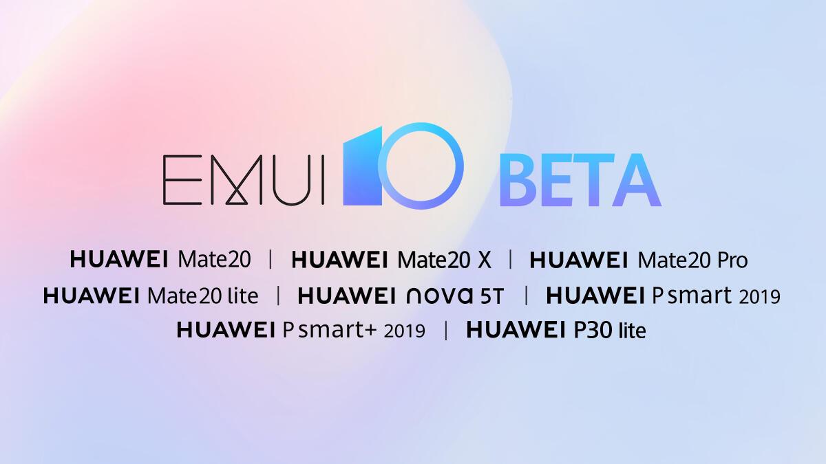 Huawei Emui 10 Open Beta