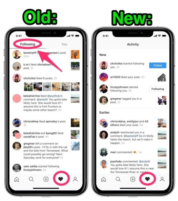 Instagram Abonniert Bereich