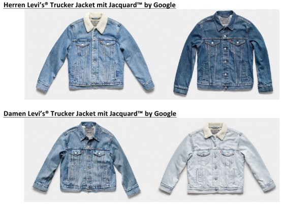 Levis Trucker Jacket With Jacquard By Google