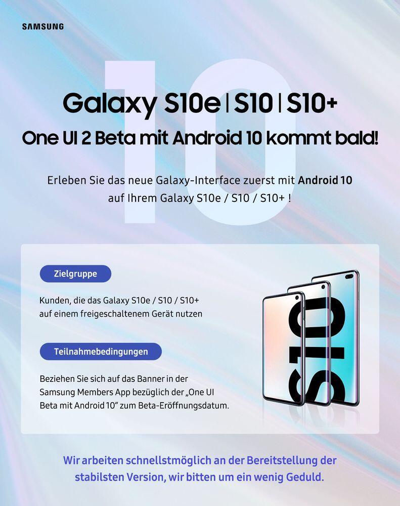 Samsung One Ui 2 Beta Banner